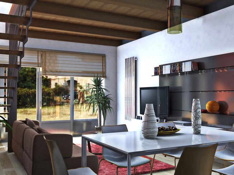 Realizzazione rendering interni abitazione privata for Interni abitazioni