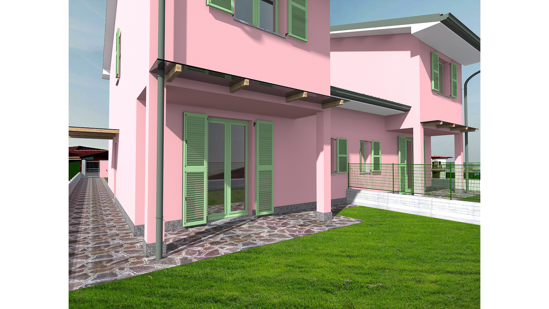 Villette unifamiliari nuova costruzione comune di for Case unifamiliari di nuova costruzione