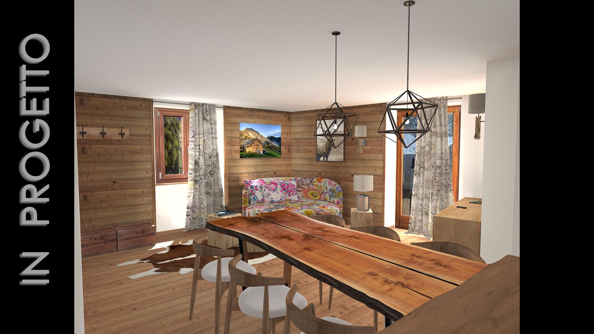 Appartamento a gressoney ao emsign studio di enrico for Appartamento interior design